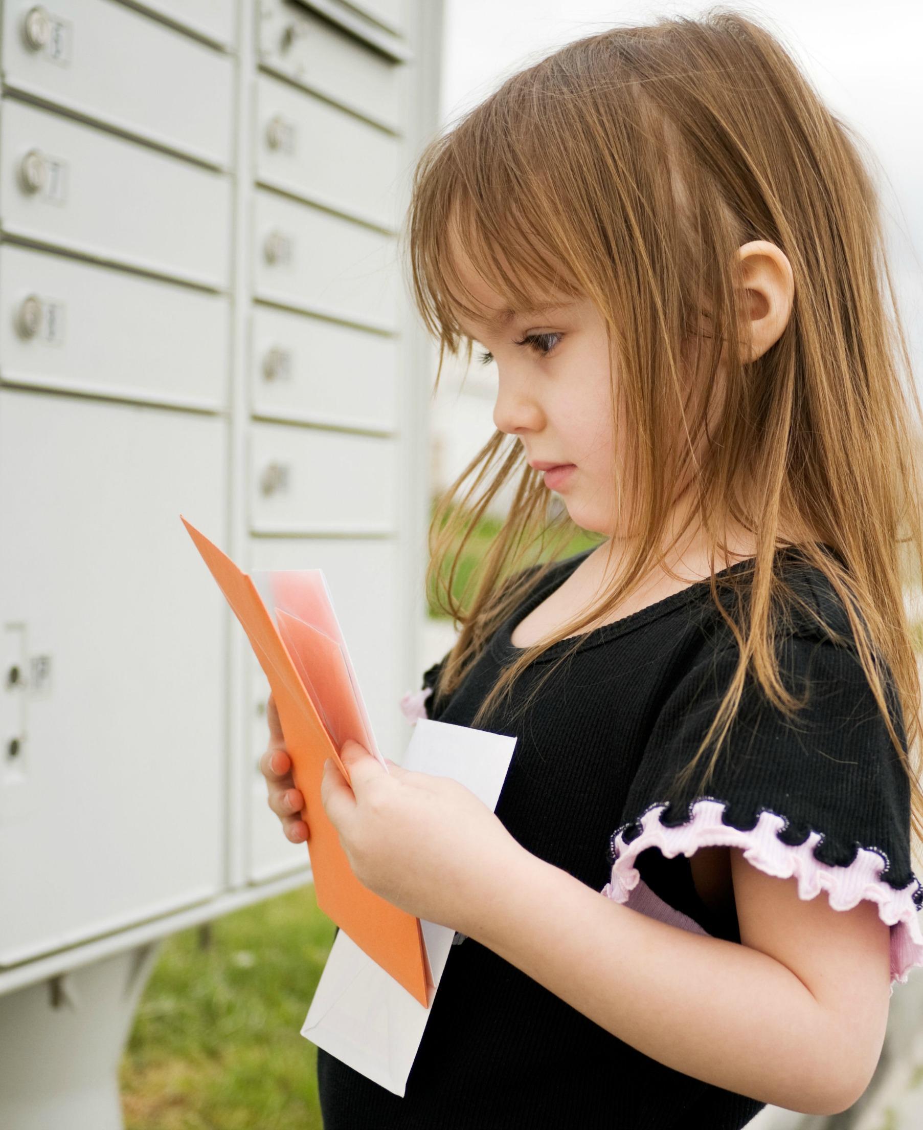 kids love mail in their mailbox